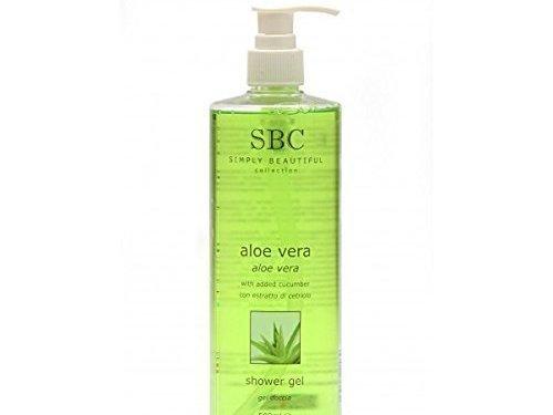 SBC Aloe Vera Gel de Baño y Ducha 1000ml con dispensador de bomba