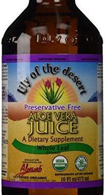 Orgánica, jugo de Aloe Vera, hoja entera, 16 fl oz (473 ml) – lirio del desierto