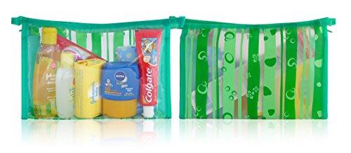 'Johnsons Kids vacaciones Niñas Baño Sun Mini Neceser verde bolsa de viaje–Shampoo Wash Sol pañuelos Dental en oferta
