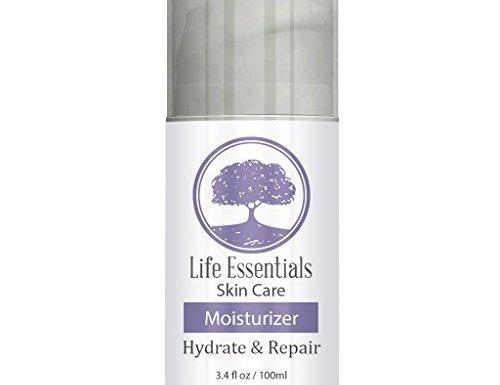 Moisturizer For Dry Skin – Hydrate & Repair – Best Cream With Jojoba Oil, Hyaluronic Acid, Aloe Vera & Green Tea – Lotion For Men, Women, Sensitive & Acne Prone Skin – 3.4oz Airless Applicator by Life Essentials Skin Care