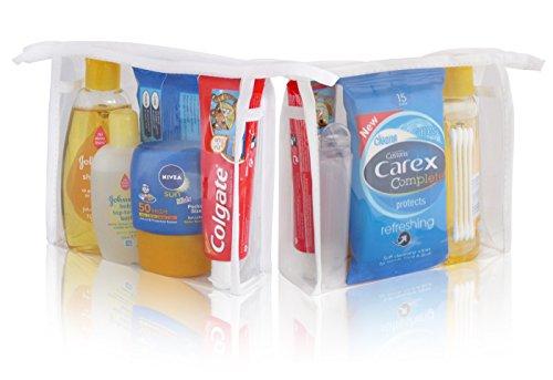 'Johnsons Kids Holiday Sun baño Mini Neceser Bolsa de viaje–Shampoo Wash Sol Toallitas dentales