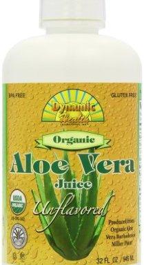 Dynamic Health 946ml 100 Percent Pure Organic Unflavored Aloe Vera Juice en oferta