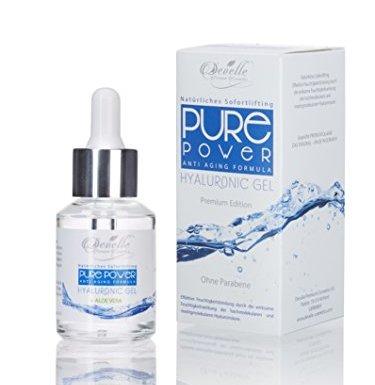 Ácido hialurónico concentrado con aloe vera (super poder anti-edad, gel de 30ml  en botella de cristal, efecto instantáneo, anti arrguas con Serum) en oferta