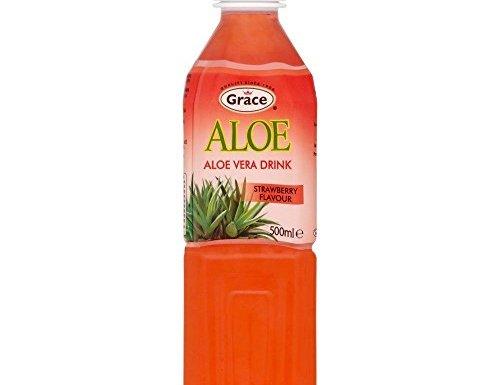 Grace – Zumo de aloe vera y fresa – Botella de 500 ml