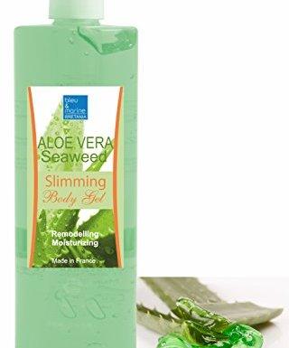 Gel de Aloe Vera y Algas Adelgazante 500 ML con Dispensador – Hidratante Remodelante Perdida de Peso con Algas Marinas Anti Celulitis