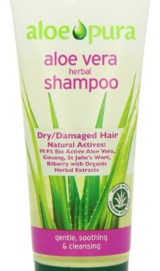 Aloe Pura Organic Aloe Vera Herbal Shampoo for Dry and Damaged Hair 200ml