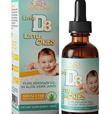 Baby Vitamin D Drops – Ideal for Infants and Babies – Naturally Derived Vitamin D3 Liquid in Pure Aloe Vera Juice with Easy to Use Dropper – USA made – BONUS eBook (118 doses)