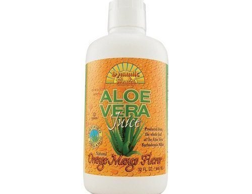 Dynamic Health Organic Aloe Vera Juice Orange Mango – 32 fl oz by Dynamic Health