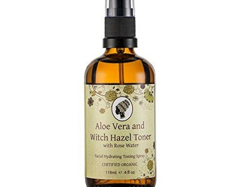 Bruja sin alcohol runakoh Hazel tóner con Aloe Vera fórmula, 118ml, 100% orgánico certificado ingredientes. Piel Hidratante.