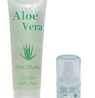 Gel de Aloe Vera 100% Humedad Cuidado Kit de viaje 250ml Tube + 30ml Recambio Dosificador para equipaje de mano en oferta
