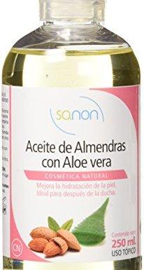 Sanon Cosmética Natural, Aceite de Almendras con Aloe Vera, 250 ml