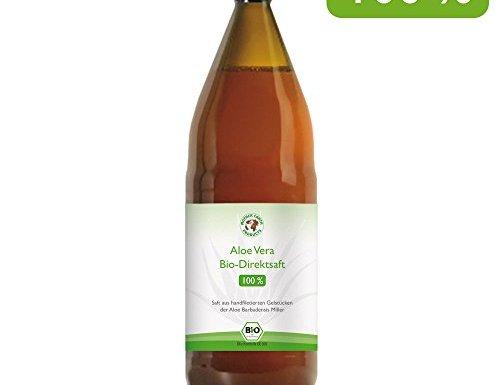 Jugo 100% orgánico de Aloe Vera   Fileteado a mano   Rico en ingredientes naturales   Promedio 1200 mg / l Aloverose   1000ml   Botella de 1 litro