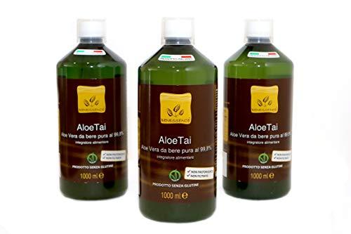 Oferta 3 x ALOE TAI – ALOE VERA PURA 99,8% – 3 Botellas de 1 litro – PRODUCTO ITALIANO