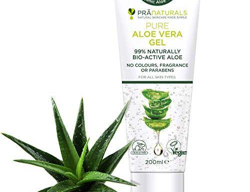 PraNaturals Aloe Vera Pura Gel (paquete de 1)