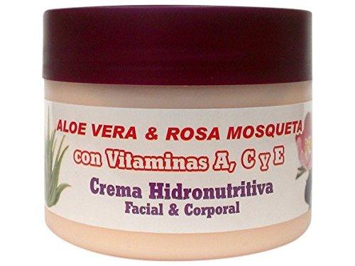 Bionatural 11320 – Crema hidronutritiva facial y corporal con aloe, rosa mosqueta y vitaminas, 250 ml