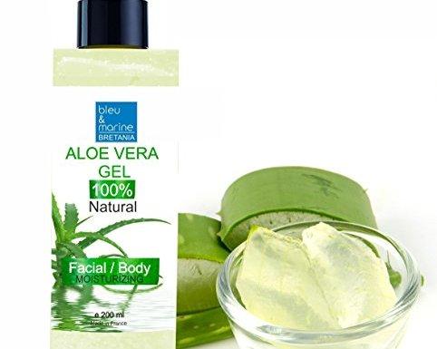 Gel de Aloe Vera 100% natural, excelente hidratante para el rostro, cuerpo y cabello, calma después de la depilación, botella con dosificador, 200 ml