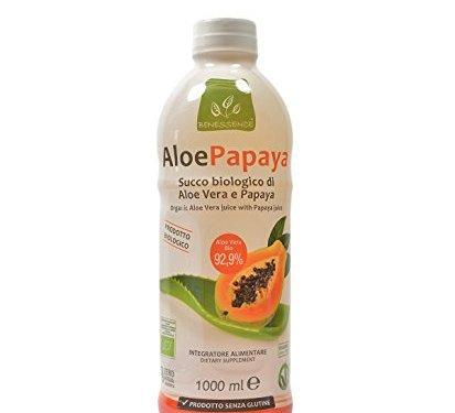 Zumo de beber biológico de Aloe Vera y papaya – 1000 ml