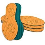 SULPO – 4 pares de plantillas con extracto de aloe vera, plantillas para zapatos contra los pies de sudor, plantillas para un aroma fresco, suelas de espuma de látex, repelente de olores,
