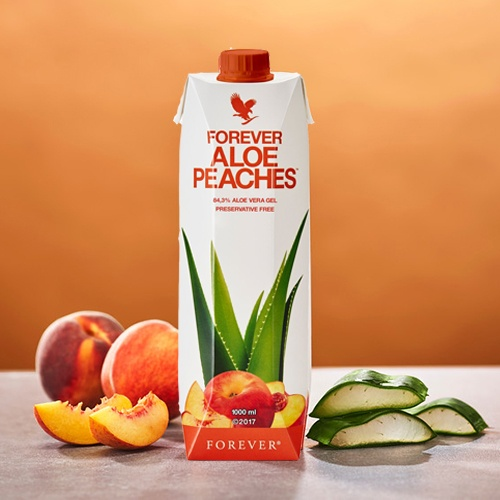 forever aloe peaches drink