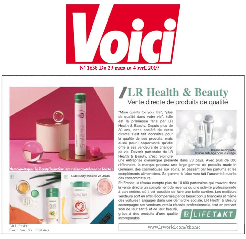 Voici N° 1638 du 29.03.2019 - Article sur LR Health & Beauty