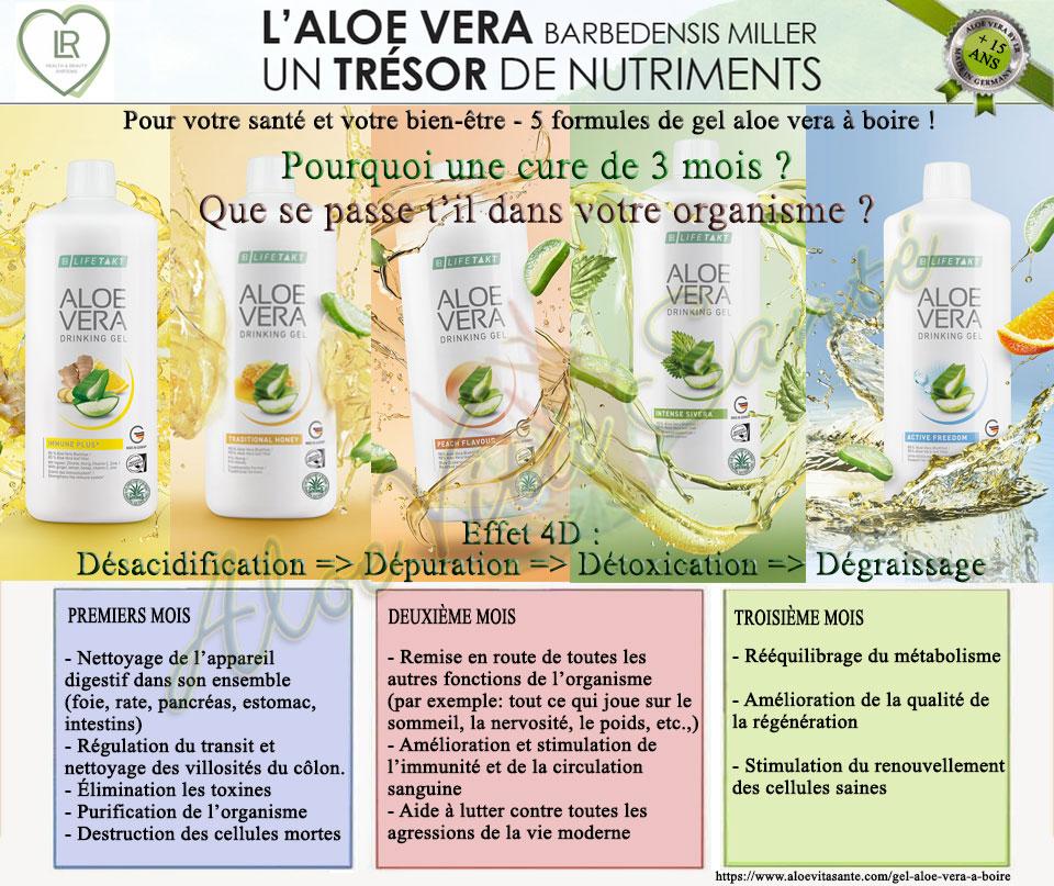 LR propose 5 recettes de gel aloe vera à-boire mais pourquoi au minimum 3 mois de cure ?