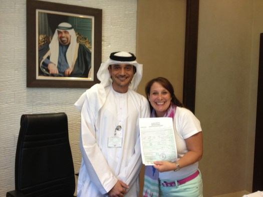 Mr. Mansoor & me w/ our signed lease