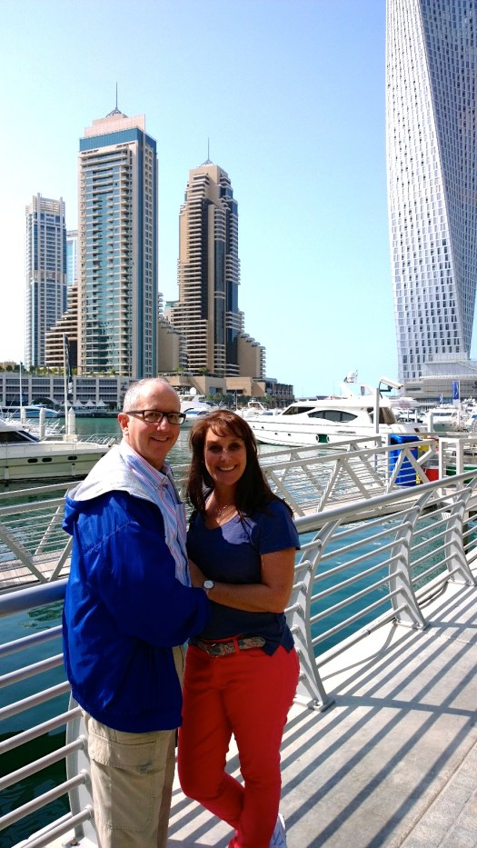 Mark & me along the Dubai Marina