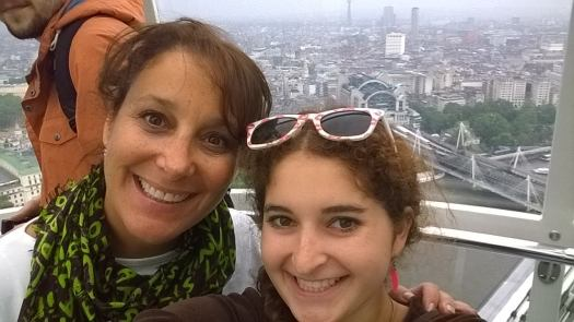 Mom & daughter in London, England