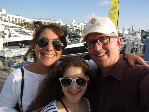 Denise, Tara & Mark at Dubai boat show