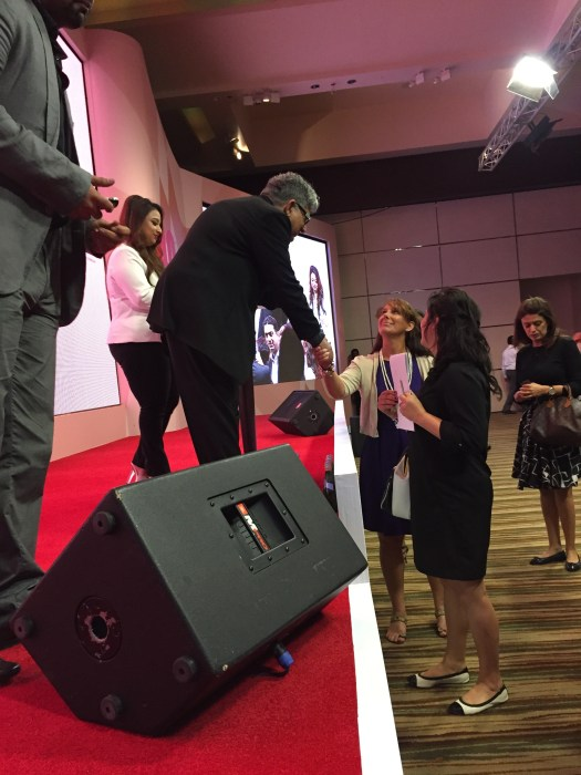 Me shaking hands w/ Deepak Chopra. Feb. 12, 2015 in Dubai