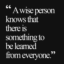 wise person...learn from eveyone