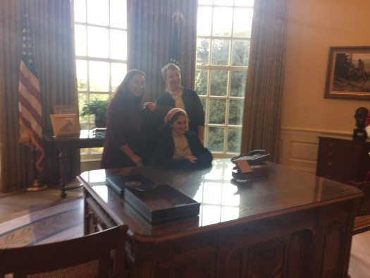 us at the President's desk