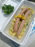 Wiener and potato salad totally fresh and homemade