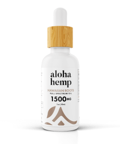 Hawaiian Roots 1500mg - White bottle - transparent