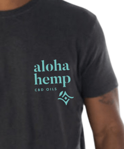 Aloha Hemp - Mens t-shirt - Close up