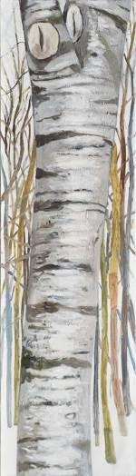 Baum 1/ Tree 1, Öl auf Leinwand, 210 x 60 cm