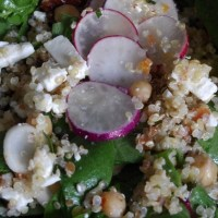 Salade quinoa pois chiches