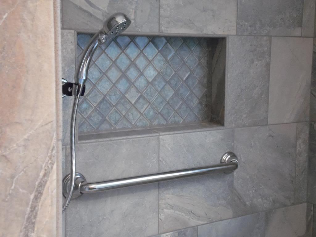 building a niche into your tile shower