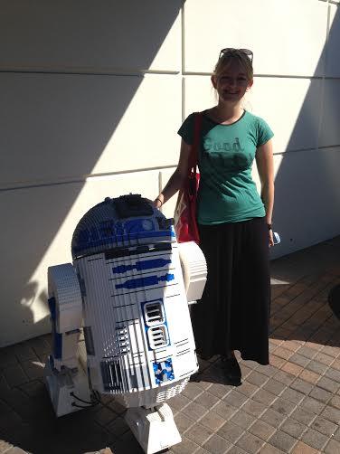 Meeting R2D2 at Legoland.