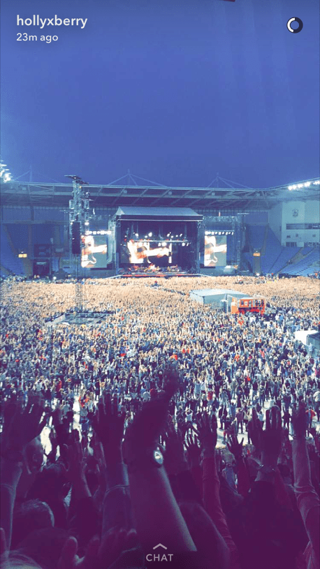 How fun it was to get live photos from my friend, Holly, in England, at a Bruce Springsteen show!