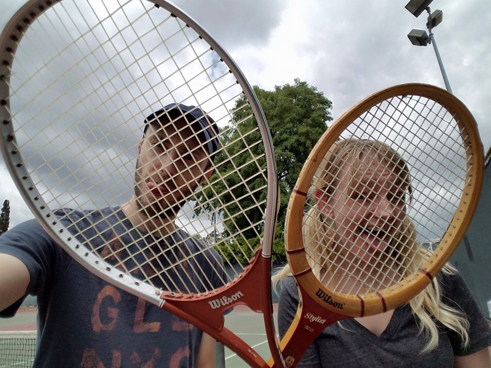 Mike even talked me into trying out tennis!