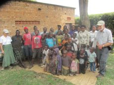 Amiable team of dentists and street children