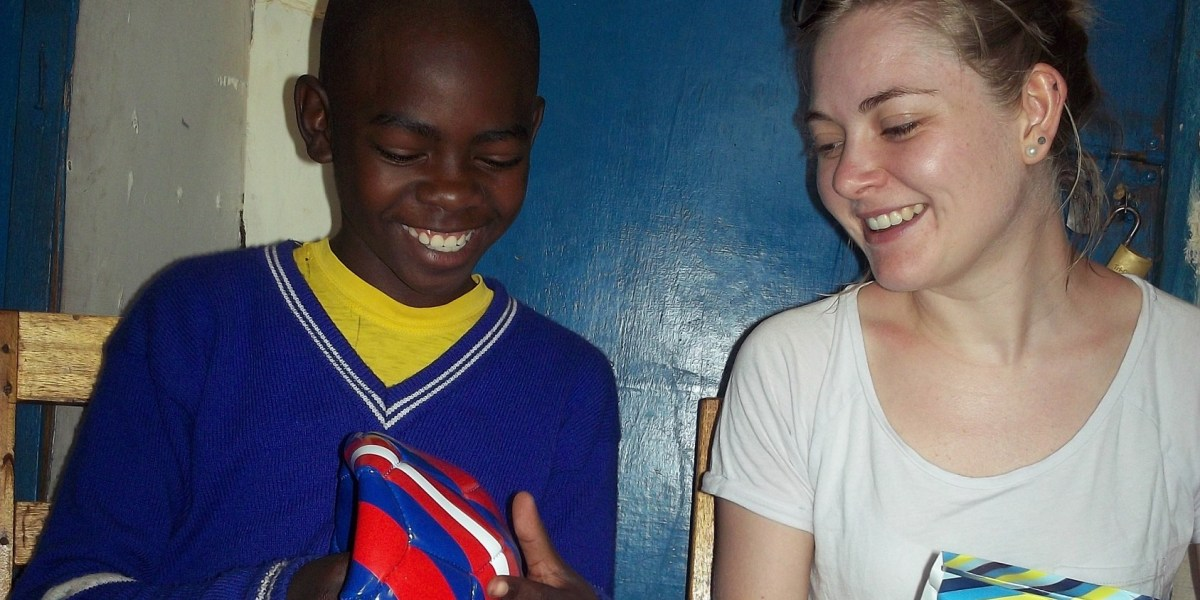Katie spend time with a sponsored child