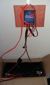 Power connected to inverter and battery to allow for AC and DC current