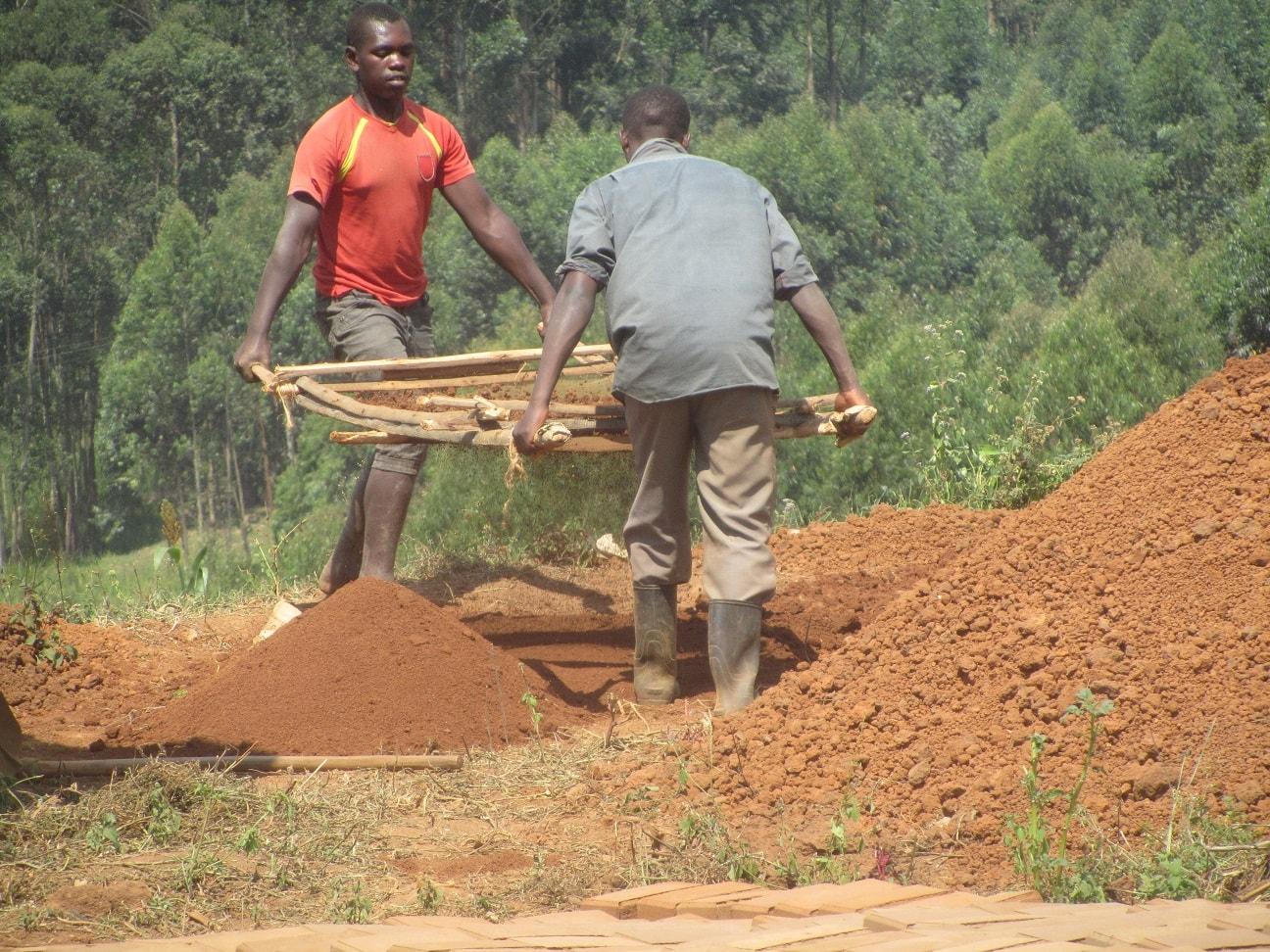 Sieving of Soil for street children home