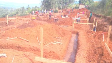 Buildling Foundations nearly completed