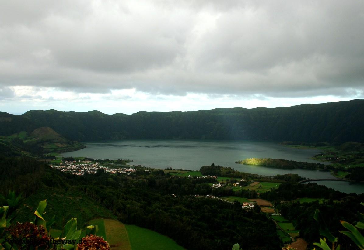 Lagoa Azul ein Sonnenstrahl