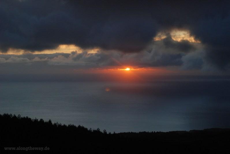 Sonnenuntergang auf Sao Miguel