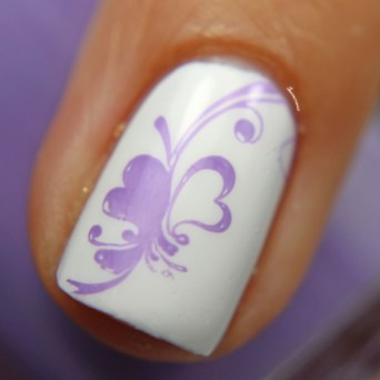 Stamped over Marshmallow Glossy Macro