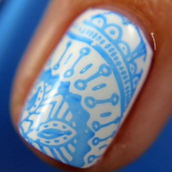 Glossy stamped over Marshmallow